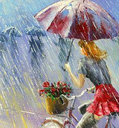 """Rain and Flowers"" by Stanislav Sidorov"