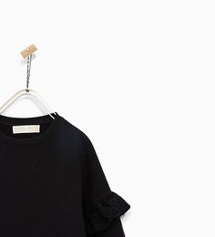 LONG SWEATSHIRT WITH FRILL EMBROIDERY from Zara