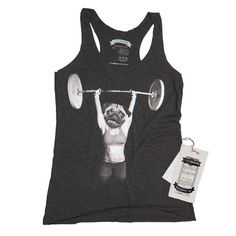 Hey, I found this really awesome Etsy listing at https://www.etsy.com/listing/190451546/crossfit-pug-workout-exersize-womens