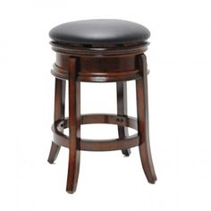 Boraam 43024 24 in. Magellan Swivel Stool Brandy for sale online Swivel Counter Stools, Counter Height Stools, Kitchen Stools, Cherry Furniture, Wooden Counter, Wood Species, Foot Rest, Lowes, Home Decor