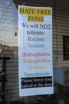 How many places would have the courage to post this on their door?