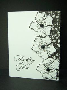Stampin Up.  Would look great using Vintage Vogue or Greenhouse garden, love the texture on the flowers