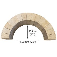Vitcas arch fire brick set of 15 can be used to form the arch around the doorway of a pizza bread oven or multiple sets can be used to form the whole