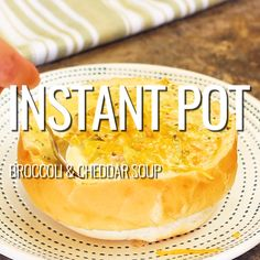 Instant Pot Broccoli and Cheddar Soup!