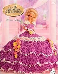 Resultado de imagen de patrones de vestidos a ganchillo para muñecas