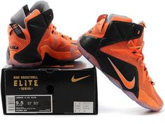 Lebron 12 Orange Black1
