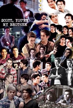 Scott McCall and Stiles Stilinski collage