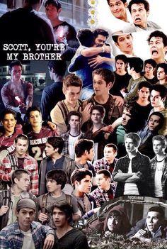 Scott McCall and Stiles Stilinski collage