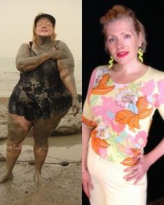 Stacey Morris - see her incredible body transformation; not just fat loss, but muscle gain through DDP Yoga and a gluten-free diet and conquering a food addiction.  Start weight: 345 lbs Today: I don't know, but doesn't she look great?! Says she feels great, too. www.staceymorris.com
