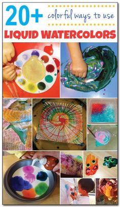 20  ways to use liquid watercolors for play, learning, art, and more! #ece #kbn || Gift of Curiosity