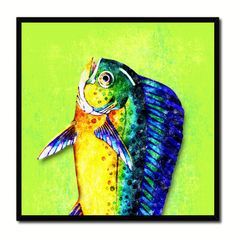 Blackfin Tuna Fish Tail Art Blue Canvas Print Picture Frame Wall Home Decor  Nautical Fishing Gifts | Blackfin Tuna And Products
