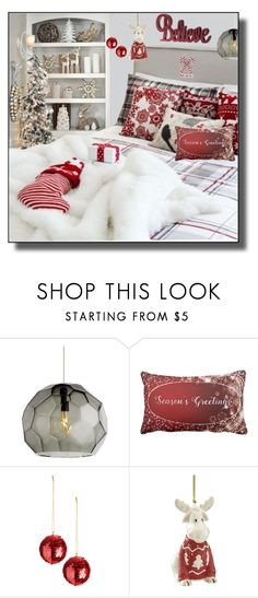 """Twas the night before Christmas"" by kelly-floramoon-legg on Polyvore featuring interior, interiors, interior design, home, home decor, interior decorating, Lenox, bedroom, Christmas and homedecor"