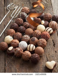 Luxury Handmade Chocolate Bonbon Assortment Of Delicious Decorative Round Chocolates