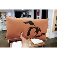 We've got a few more pillows by Toronto artist @nicoletarasick in the shop. #greatlakes