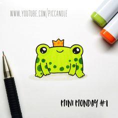 Mini Monday Doodle - Little Frog www.youtube.com/piccandle