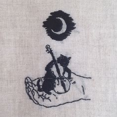 Hand embroidery on natural linen