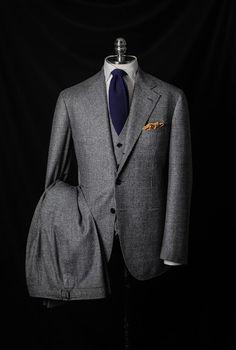 Grey Plaid Suit by Kelly Jelic