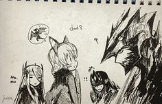 Does Thuringwethil think of Sauron as him mama? That is so cute!!! Art by tokidokitidori