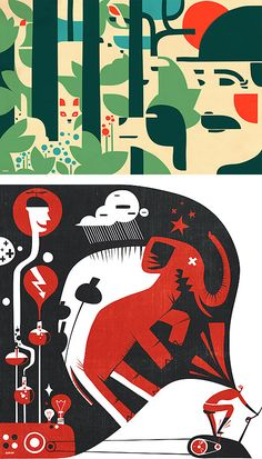 Illustrations by Iv Orlov | Inspiration Grid | Design Inspiration