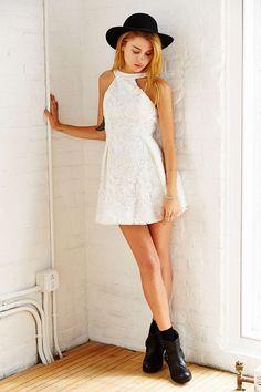 Keepsake Take It All Mini Dress - Urban Outfitters Smock Dress, Dress Up, Urban Dresses, Maxi Dresses, Going Out Dresses, Latest Dress, White Dress, White Lace, Fashion Forward