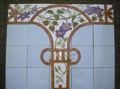 Art Nouveau tegeltableau