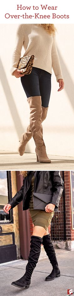 Over-the-knee boots are a bold new trend right now. And although nailing this look may seem like a tall order (see what we did there), these boots are actually a very versatile style to add to your wardrobe.