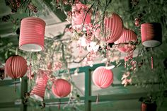 Gorgeous pink lanterns. #valentine #day #decor #romantic
