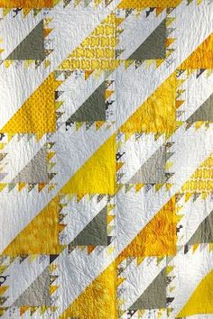 Yellow and Grey Lady of the Lake Quilt Completed!