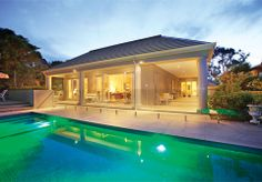Classical luxury home alfresco and pool