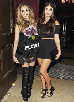 JADE THIRLWALL and JESY NELSON of Little Mix at Mahiki Nightclub in London (June 24, 2014)