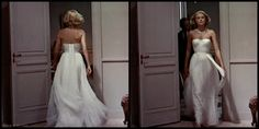 """Don't you love the movement on Grace Kelly's famous white dress in """"To Catch a Thief"""""""