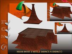 Roof 2 set Mesh Full perm