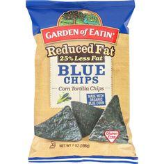 Garden Of Eatin Tortilla Chips - Organic - Blue Corn - Reduced Fat - 7 Oz - Case Of 12