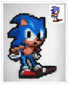 Sonic hama mini beads -  Pixel Art Shop