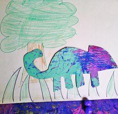 Children can create their own original chameleon crafts!