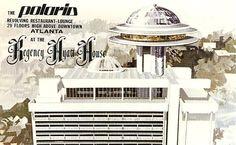 The Hyatt House, Atlanta (the Hyatt Regency) with the famous blue Polaris revolving restaurant atop. I remember as a child being able to spot it easily on the Atlanta skyline.