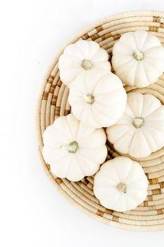 White and natural autumn decor
