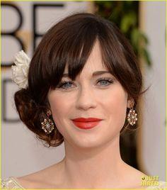 Zooey Deschanel - Golden Globes 2014 Red Carpet | 2014 Golden Globes, Zooey Deschanel Photos | Just Jared