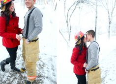 Firefighter engagement » Orange County Husband and Wife Film Wedding Photographers