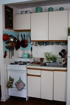 Never have enough space in my kitchen. Like the pegboard idea to hang kitchen items.