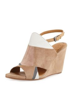 6fa448482194 Coclico Jordy Colorblock Wedge Sandal