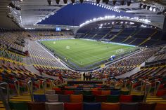 Interior Dacia Arena Stadio Friuli, Udine, Italia. Capacidad 25.000 espectadores, Equipo local Udinese Calcio.