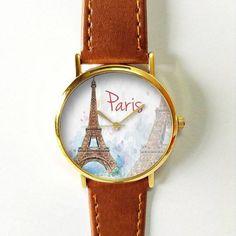Paris-Uhren für Männer Frauen Leder Damen Vintage von FreeForme