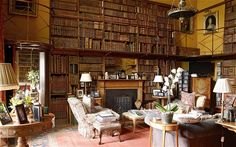 Goodwood House: the Small Library, which serves as Lord March's study.