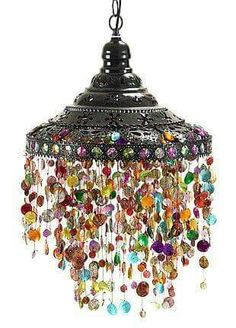☮ American Hippie Bohéme Boho Lifestyle ☮ Beaded Chandelier