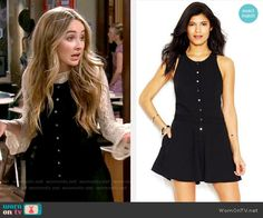 Maya's white lace top and black button-front romper on Girl Meets World.  Outfit Details: https://wornontv.net/54000/ #GirlMeetsWorld