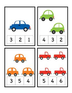 Preschool Printables: Car Number Cards