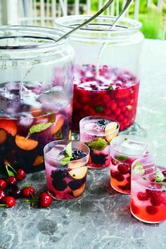 Summer Fruit Mojitos