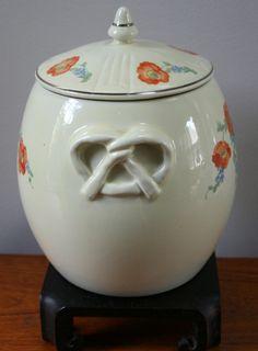 Vintage HALL China ORANGE POPPY Pretzel Jar with Grease Jar Lid | eBay  www.ebay.com