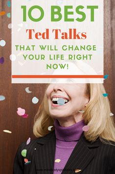 If you've ever watched a TED Talk you'll understand their ability to totally change the way you think - which means they have the ability to change your life. These are some of the best TED Talks to help you improve your life and boost your happiness. Ted Talks Motivation, Self Motivation, Self Development Books, Personal Development, Best Ted Talks, Best Speeches, Self Care Activities, Motivational Videos, Science Education
